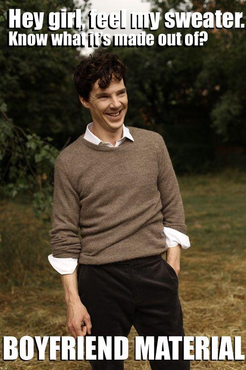 Wanna feel my sweater?