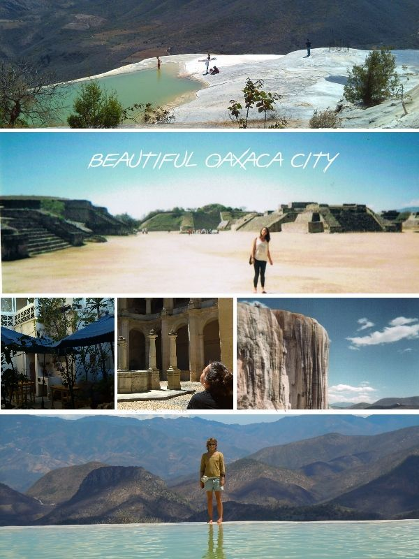 Oaxaca City and surroundings, exploring on our own, no tourist bus trips. Monte Alban and Hierve del Agua are magical!