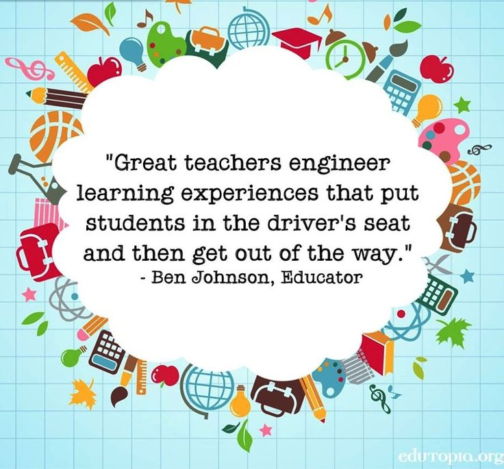 Great teachers engineer learning experiences