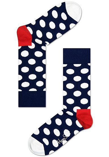 HAPPY SOCKS Big Dot - Socken - Blau - Planet Sports