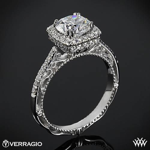 This Diamond Engagement Ring is from the Verragio Venetian Collection.