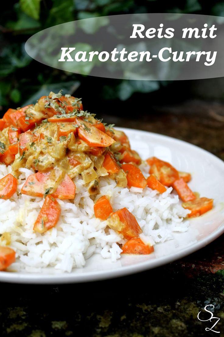 Schokokuss und Zuckerperle: Reis mit Karotten-Curry