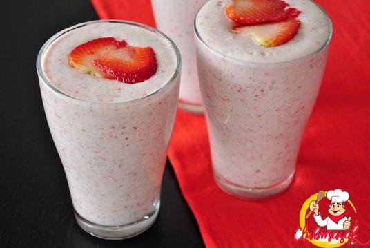 Resep Hidangan Buah, Shake Zaitun Strawberry, Minuman Sehat Untuk Diet, Club Masak
