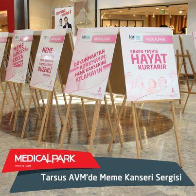 """Medical Park Tarsus Hastanesi, """"1-31 Ekim Meme Kanseri Bilinçlendirme ve Farkındalık Ayı"""" kapsamında Tarsus Alışveriş Merkezi'nde meme kanseri ile ilgili fotoğraf sergisi açtı."""