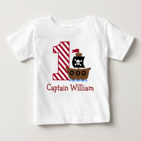 Customizable Pirate First birthday shirt one year - tap, personalize, buy right now!