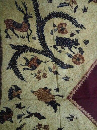 Batik head cloth/tutup kepala banyumas 1940.