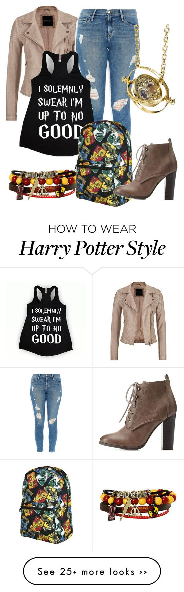 """Harry Potter at School"" by flutegirlcap on Polyvore featuring moda, maurices, Frame Denim, Dash e Charlotte Russe"