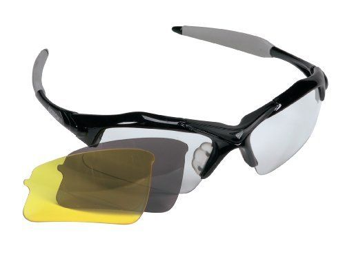 Prince Squash Speed Eyewear by Prince. $25.00. The Speed Eyeguard from Prince offers a superior optical quality in a lightweight sporty design with vented interchangeable lenses for all the possible different lighting conditions. Clear, amber and dark tinted lenses included. Popular sporty nylon frame design with rubberized temple grips to hold frame in place during play. Distortion free polycarbonate shield lenses with anti-fog/ anti-scratch coating. Adjustable headstr...