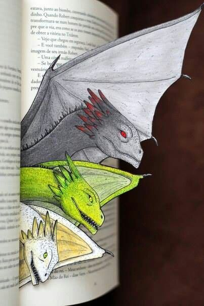 Dragon bookmark. I'm going to have to make me one of these.