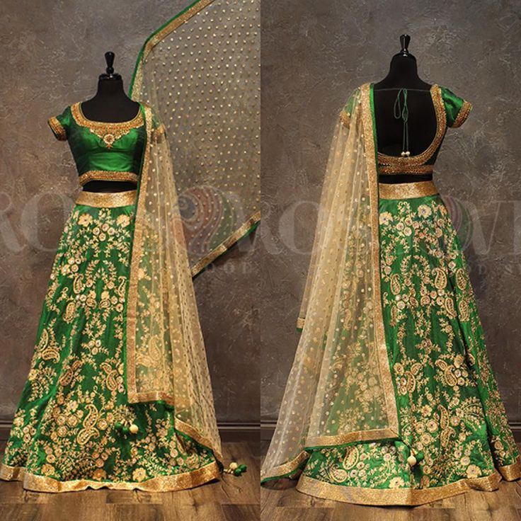 Lush Green A dark vibrant green raw silk lengha. Embroidery is done all over lengha and a intricate border design on the blouse. Matching this beautiful piece is a dupatta with bead work. www.crossoverbollywoodse.ca Inquiries: raji@crossoverbollywoodse.ca Snapchat: rajikhaira #crossoverbollywoodse #bchicbyrajikhaira #snapchat #instagram #snapus #selfie #weddinggown #pakistanifashion #sikhwedding #bridal #indianbridal #indianwedding #allthingsbridal #pakistaniwedding #weddingplanner #vog...