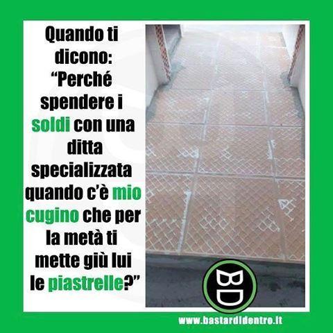 #pavimento al contrario  Seguici su youtube/bastardidentro #bastardidentro #economia #piastrella www.bastardidentro.it