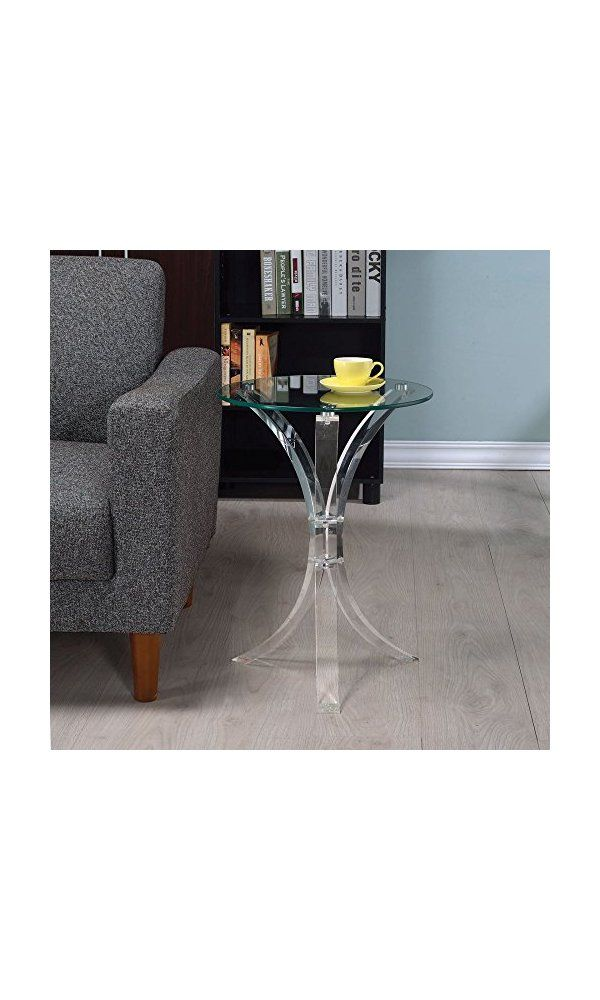 Coaster Round Gl Top End Table Deal Price 61 97 From Https