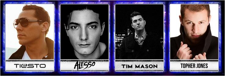 Bouncing with Tiesto, Alesso, Tim Mason, & Topher Jones!