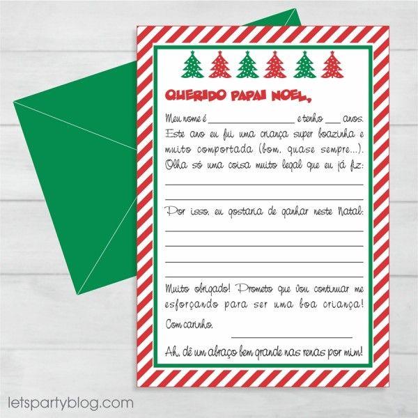 Download gratuito - Modelo de cartinha para o Papai Noel | Macetes de Mãe