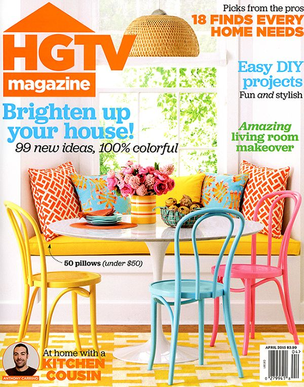 Hgtv Magazine April 2015 Mexican Furniture Tiles For