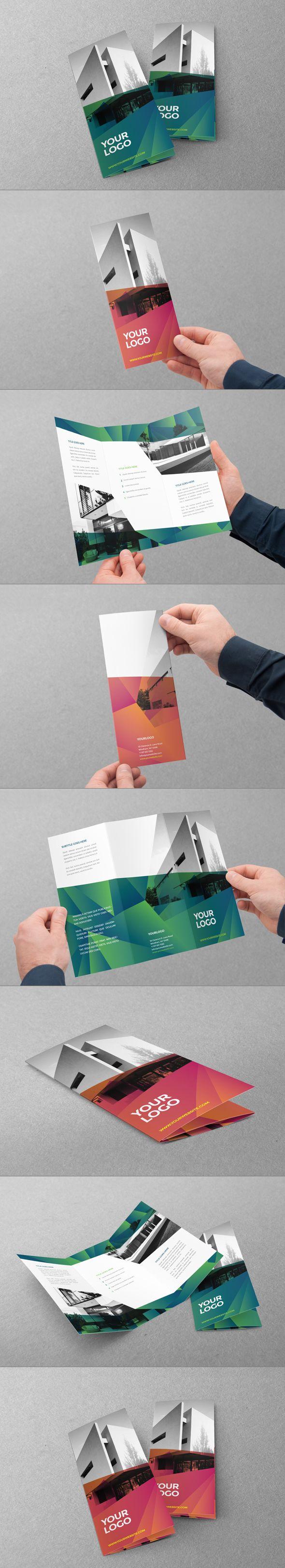 Modern Green Orange Trifold by Abra Design, via Behance