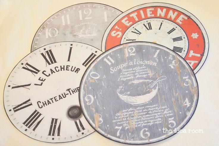 clock face printables | printable~vintage general | Pinterest