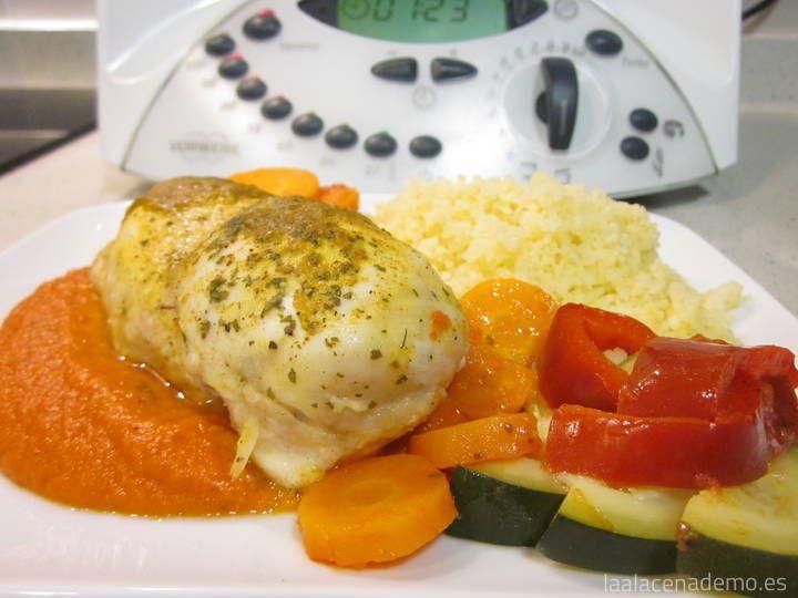 Pollo marinado con verduras y cuscús Thermomix - La Alacena de MO