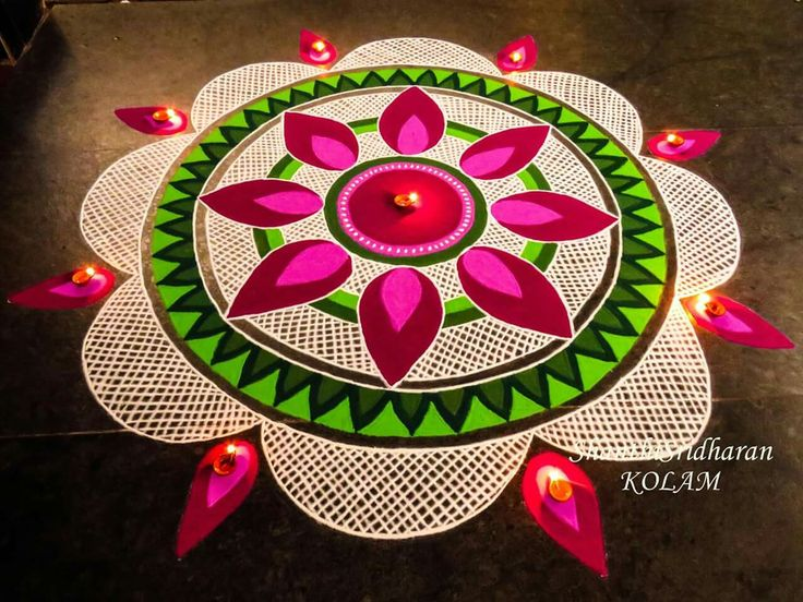 260 best rangoli images on pinterest diwali diy diwali for Home made rangoli designs