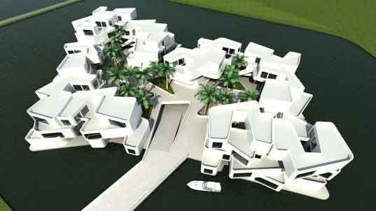 citadel, new water, holland, netherlands, waterstudio, floating apartments, polder
