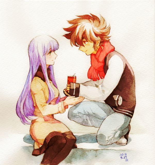 Saori y Seiya 1. Omega Ω.