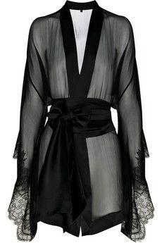 Silk-chiffon kimono
