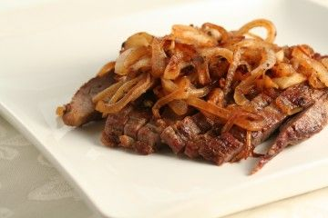 Grilled Steak with Caramelized Onions in Beef HCG Diet Recipes, HCG Phase 2 Recipes