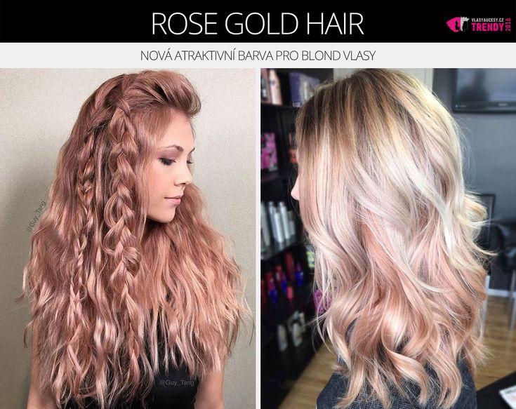 Dejte svým blond vlasům novou atraktivní barvu – rose gold.