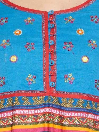 BIBA Biba Colours Of Gujarat Anarkali Kurta | Buy Medium Blue Regular Length | Shop Online India