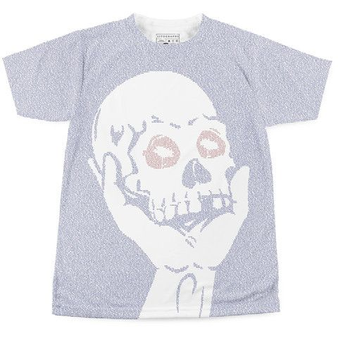 Great, fun, literary tshirts - all of them go on the wish list :P Hamlet | Book T-Shirt | Litographs