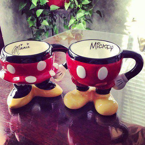 Mickey & Minnie Mouse Mugs #CouplesMug #LoveIt