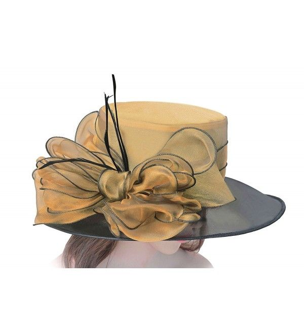 Noble Womens Dress Hats Wide Brim Church Wedding Kentucky Derby Floral A045