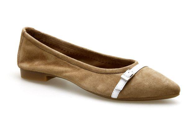 Ballerines REQINS GRETA Beige - Chaussures femme