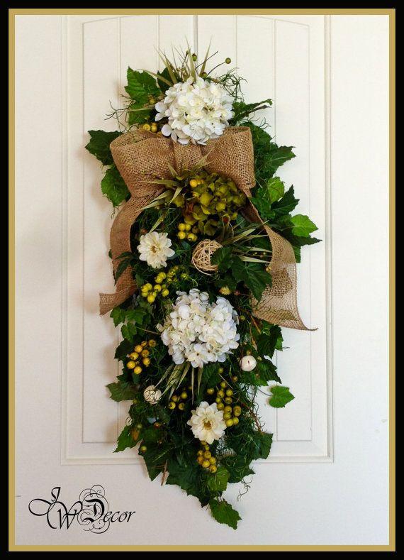 Summer Wreath Spring Wreaths Front Door Swag Hydrangea