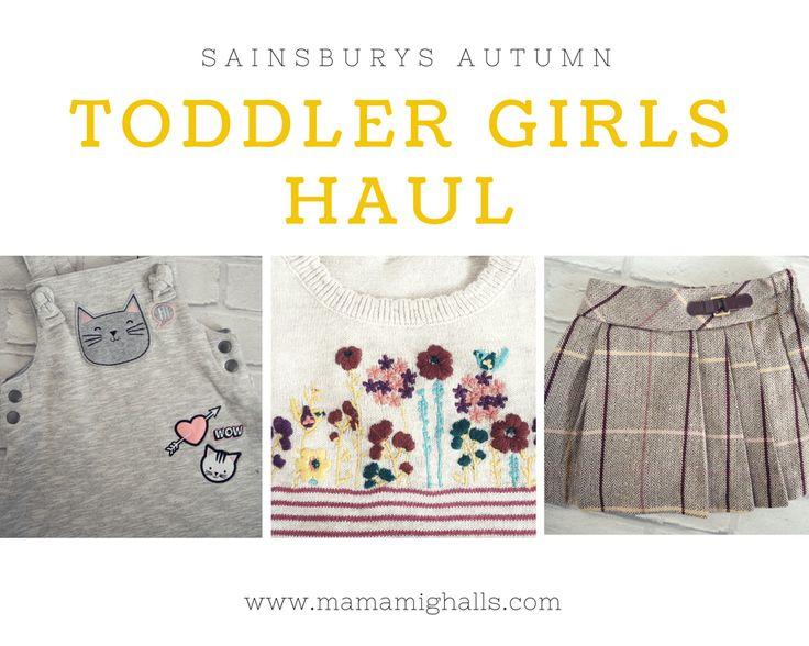 Sainsburys Toddler Girls Autumn Clothing Haul (25% Off 15/08/17)