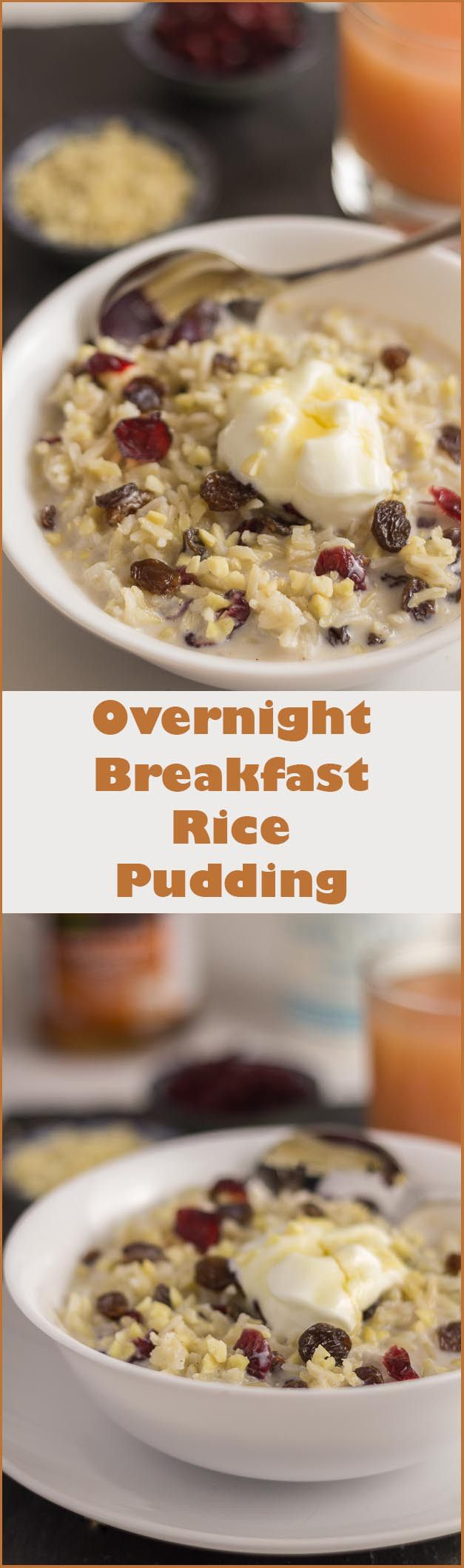 A naturally sweet tasting and filling wholegrain overnight breakfast rice pudding breakfast. Breakfasts will never be the same again.