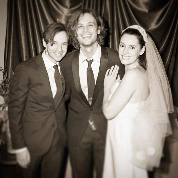 """had the unique pleasure of getting to officiate the marriage of 2 of my best friends and now i have minister fever"" // On November 28th, 2014 Matthew officiated the wedding of Paget Brewster & Steve Damstra"