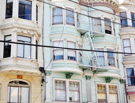 Pastel buildings in San Francisco