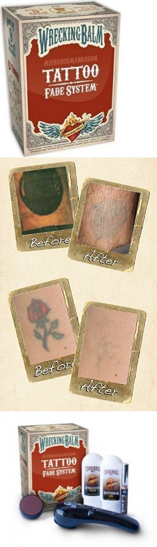 Tattoo Removal - Tattoo Removal Machines: Remove Tattoos Cream Wrecking Balm Microdermabrasion Help Tattoo Fade System New -> BUY IT NOW ONLY: $37.7 on eBay! - Quick and Easy Natural Methods & Secrets to Eliminating the Unwanted Tattoo That You've Been Regretting for a Long Time