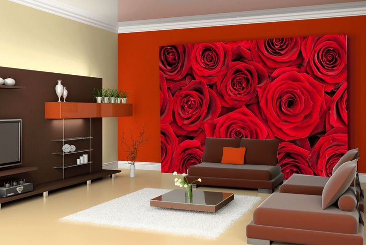 Czerwone róże w salonie  http://ecoformat.com.pl/fototapety-z-kwiatami-roza-w-roli-glownej/