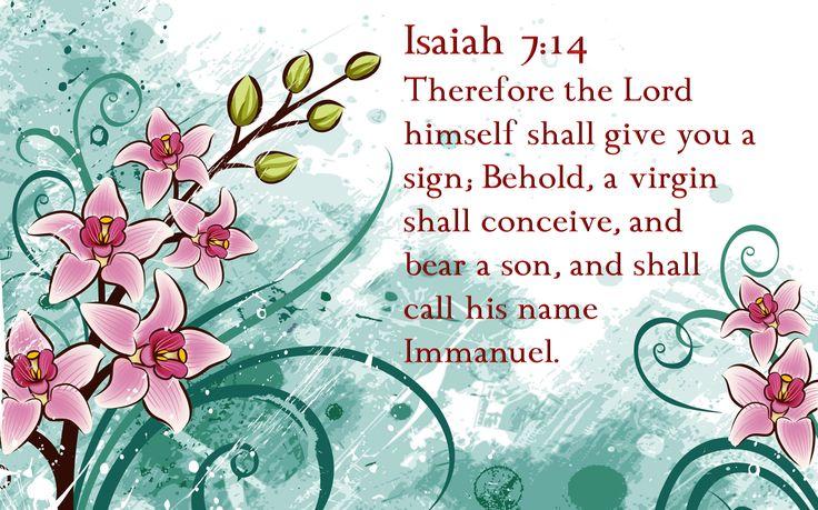 Isaiah 7:14 | Isaiah 7:14 | Verses From The King James Bible | Pinterest