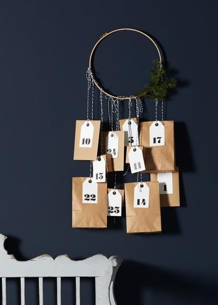 Advent calendar to be filled with seasonal goodies for your countdown to Christmas. You will get - tags with number 1-25 - 10 envelopes A6- 4 boxes 7,5x7,5x3,5