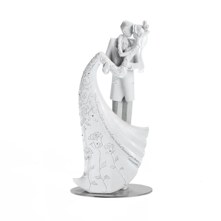 Language Of Love The Kiss Wedding Cake Topper