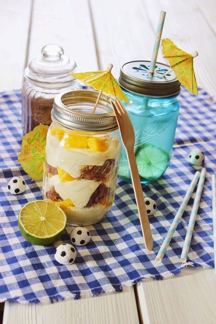 Rezept zur WM - Caipirinha Cheesecake im Glas