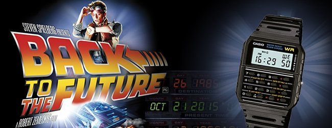 "Orologio Vintage Digitale Calcolatrice ""Back to The Future"""