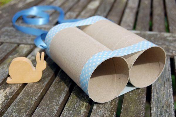 Toddler craft binoculars. Hooray! Finally a reason to buy washi tape!