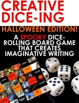 HALLOWEEN Creative Dice-ing: A Board Game for SPOOKY Imaginative Writing! This is a Halloween version of my popular roll the dice board game for ELA Creative Writing. It consists of a vibrant grid full of spooky Halloween-inspired images, words and phrase