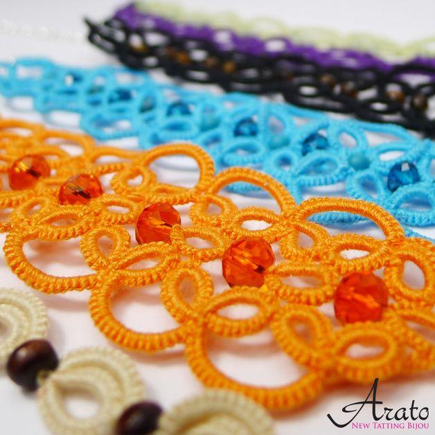 """Arato Bracelet - """"Pomarańcz i kryształ"""" - Arato - Bransoletki"""