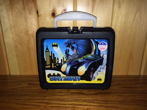 Batman Lunch Box  Thermos Lunch Box by NostalgiaTHENandNOW on Etsy