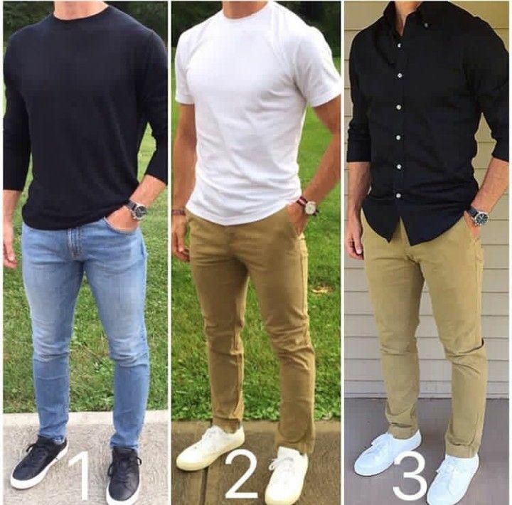 Moda Masculina / Men's Fashion sur Instagram: Qual look você prefere? #modama…